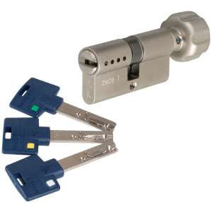 Cylindre à bouton varié nickelé - Interactive + - Mul-T-lock