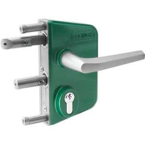 Serrure de portail en applique - Clé I - Axe à 30 mm - LAKQ - Locinox