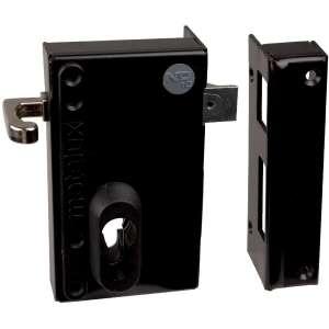 Serrure en applique noire à Tirage - Clé I - Axe à 45 mm - Série ND10 - DOM