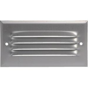 Grille d'aération aluminium - 75 x 140 mm - Avec moustiquaire - Anjos