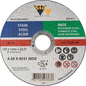 Disque à tronçonner - Acier / inox - SIA Abrasives