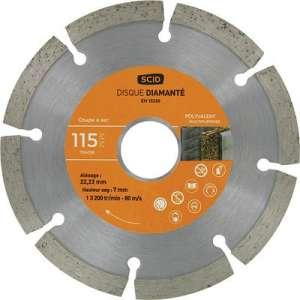 Disque diamant à tronçonner - Tous matériaux - SCID