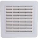 Grille de ventilation avec grille anti insectes - Couleur blanche - 246 x 246 mm - Nicoll