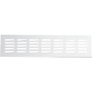 Grille aluminium naturel - 300 mm - À encastrer - Série 381/80 - Renson
