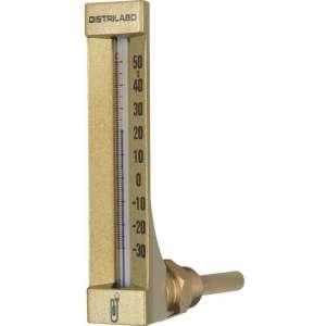 Thermomètre coudé boîtier aluminium pour climatisation - Distrilabo