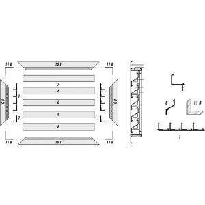Profil cadre vertical perforé - Renson