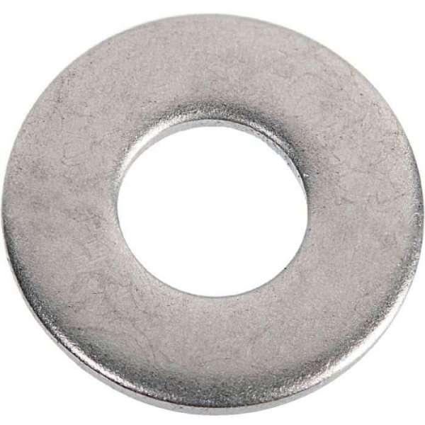 Rondelle plate zingué - Ø 6 x 14 mm - Boîte de 500 - Viswood