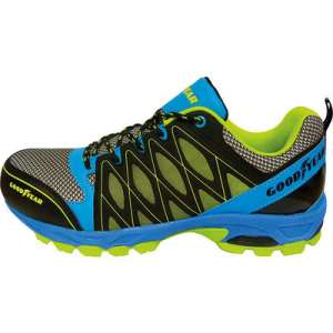 Chaussures de sécurité bleue - Vert - noire - Sliverstone - Pointure 42 - Goodyear