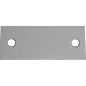 Contre plaque en tôle galvanisée 100x40 mm - Sélection Cazabox