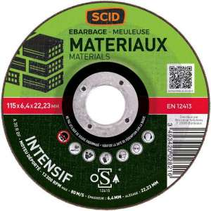 Disque à ébarber usage intensif - Ø 115 mm - Tous matériaux - SCID