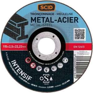 Disque à tronçonner - Tous métaux - SCID