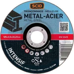 Disque à tronçonner usage intensif - Ø 125 mm - Tous métaux - SCID