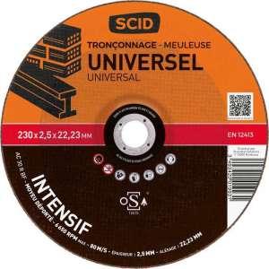 Disque à tronçonner usage intensif - Ø 230 mm - Universel - SCID