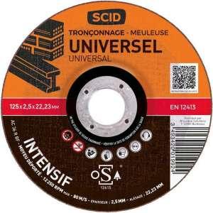 Disque à tronçonner usage intensif - Ø 125 mm - Universel - SCID