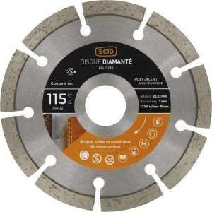 Disque diamant segmenté à tronçonner Eco - Tous matériaux - SCID