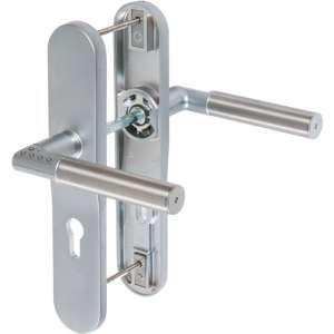 Ensemble béquille double gauche sur plaque inox CODE-IT - Clé I - Mul-T-lock