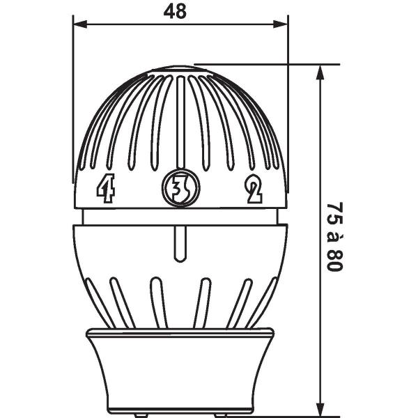 Tete Thermostatique De Radiateur Bulbe A Soufflet R470 Giacomini Cazabox