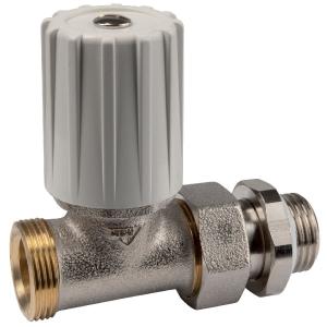 """Robinet de radiateur droit à visser - M 1/2"""" - Simple réglage - RBM"""