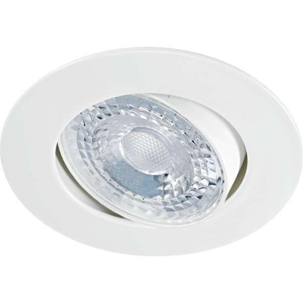 Spot led encastré décoratif orientable blanc - 8 W - 3000 K - LED K8 - Aric