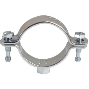 Collier zingué blanc simple - Tube Ø 20 à 25 mm - Série lourde - Pratiko - Plombelec