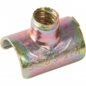 Collier clip zingué jaune simple - Tube Ø 12 mm - Vendu par 100 - Clips