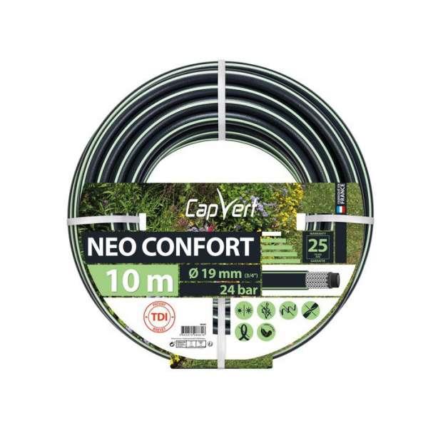 Tuyau d'arrosage Néo Confort - Ø 19 mm - 10 M - Cap Vert