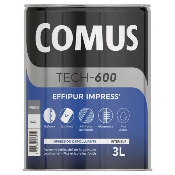 Impression acrylique microporeuse dépolluante EFFIPUR IMPRESS' - Pot de 3 L - Comus