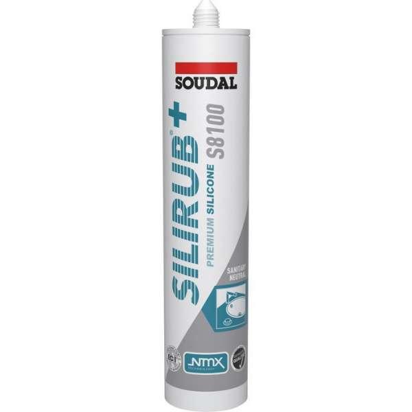 Mastic silicone Silirub+ S8100 blanc - 310 ml - Soudal