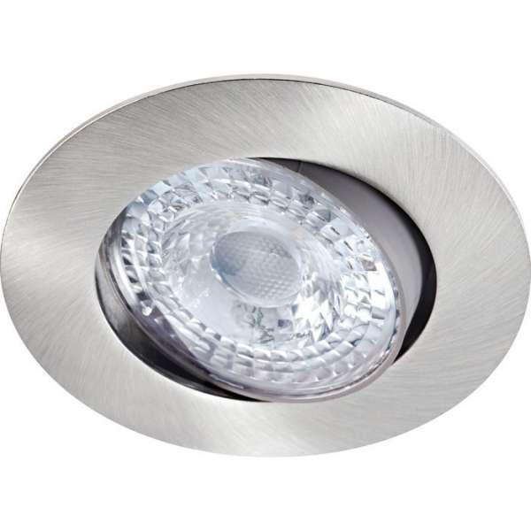 Spot led encastré décoratif orientable nickel - 8 W - 3000 K - LED K8 - Aric