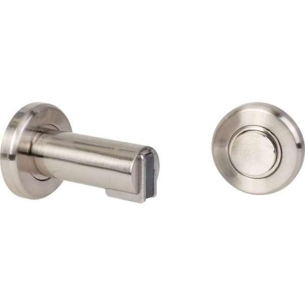 Arrêt magnétique 2 en 1 - cale porte magnet inox 75mm - Häfele