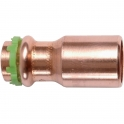 Raccord cuivre réduit à sertir - Mâle / femelle - Ø 14 - 12 mm - Comap