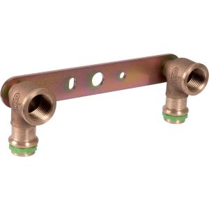 """Applique laiton double avec support droit à sertir - F 1/2"""" - Ø 15 mm - Comap"""