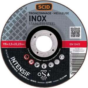 Disque à tronçonner usage intensif - Ø 115 - Inox - SCID