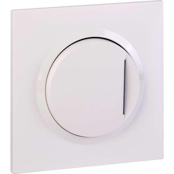 Interrupteur ou va-et-vient blanc avec voyant 10 AX - Dooxie one - Legrand