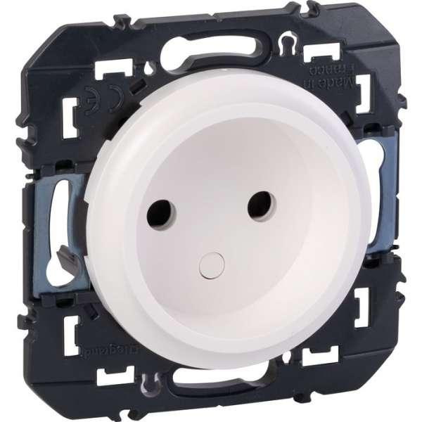 Prise de courant 2P à puits blanc composable - Dooxie - Legrand