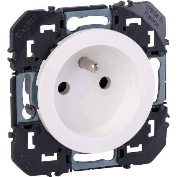 Prise de courant 2P+T à puits blanc composable - Dooxie - Legrand