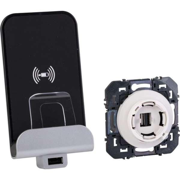 Chargeur à induction et module de charge USB Typa A - Dooxie - Legrand