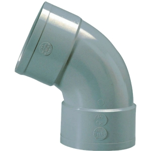Raccord PVC gris coudé 67°30 - Ø 32 mm - Double emboîture - Girpi