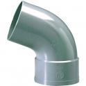 Raccord PVC gris coudé 67°30 - Ø 32 mm - Simple emboîture - Girpi