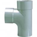 Raccord PVC gris en T - Mâle / femelle - Ø 32 mm - Double emboîtage - Girpi