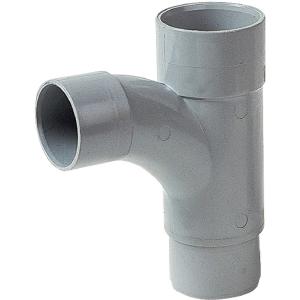 Pied de biche PVC gris réduit 87°30 - Ø 50 - 40 - 50 mm - Double emboîture - Girpi