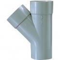 Culotte PVC gris 45° - Ø 32 mm - Double emboîture - Girpi