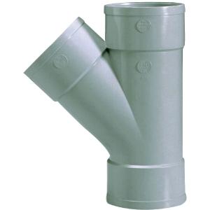 Culotte PVC gris 45° - Ø 32 mm - Triple emboîture - Girpi