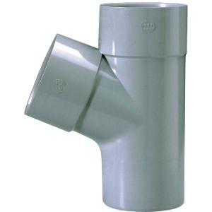 Culotte PVC gris 67°30 - Ø 100 mm - Double emboîture - Girpi