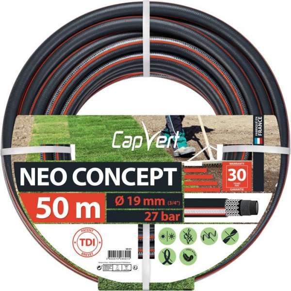 Tuyau d'arrosage Néo Concept - Ø 19 mm - 50 M - Cap Vert