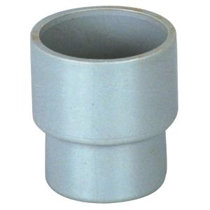 Raccord PVC gris droit réduit - Ø 40 - 32 mm - Double emboîture - Girpi
