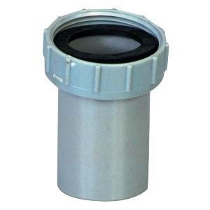 """Douille PVC grise droite - F 1""""1/4 - Mâle Ø 32 mm - Girpi"""