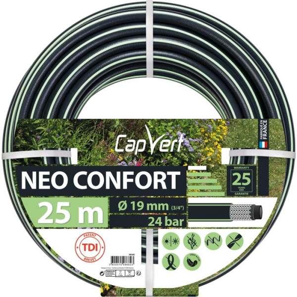 Tuyau d'arrosage Néo Confort - Ø 19 mm - 25 M - Cap Vert