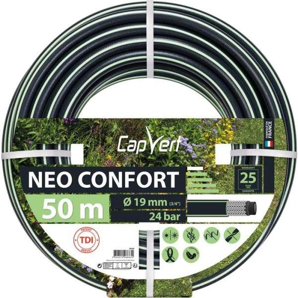 Tuyau d'arrosage Néo Confort - Ø 19 mm - 50 M - Cap Vert