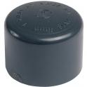 Bouchon PVC pression noir - Ø 20 mm - Girpi